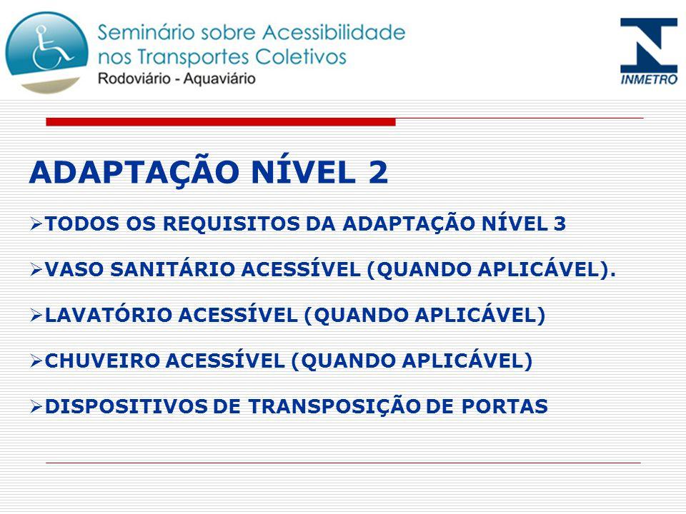 ADAPTAÇÃO NÍVEL 2 TODOS OS REQUISITOS DA ADAPTAÇÃO NÍVEL 3