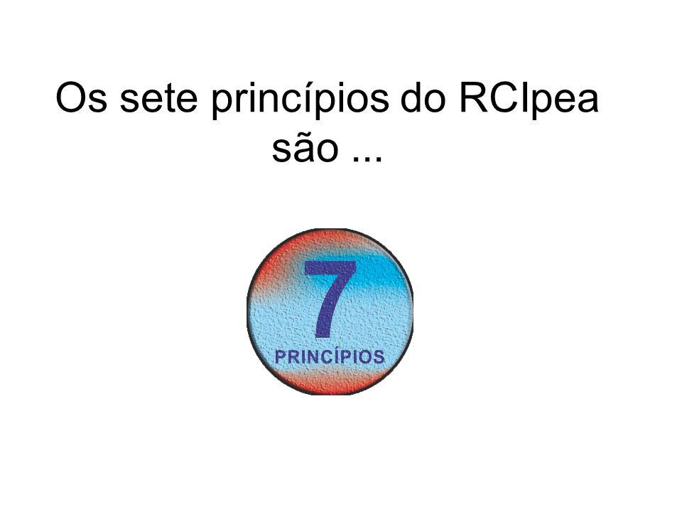 Os sete princípios do RCIpea são ...