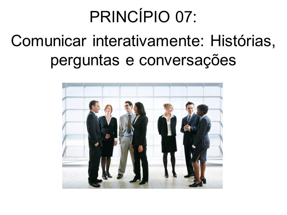 Comunicar interativamente: Histórias, perguntas e conversações