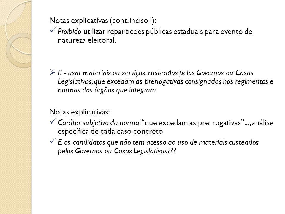 Notas explicativas (cont. inciso I):