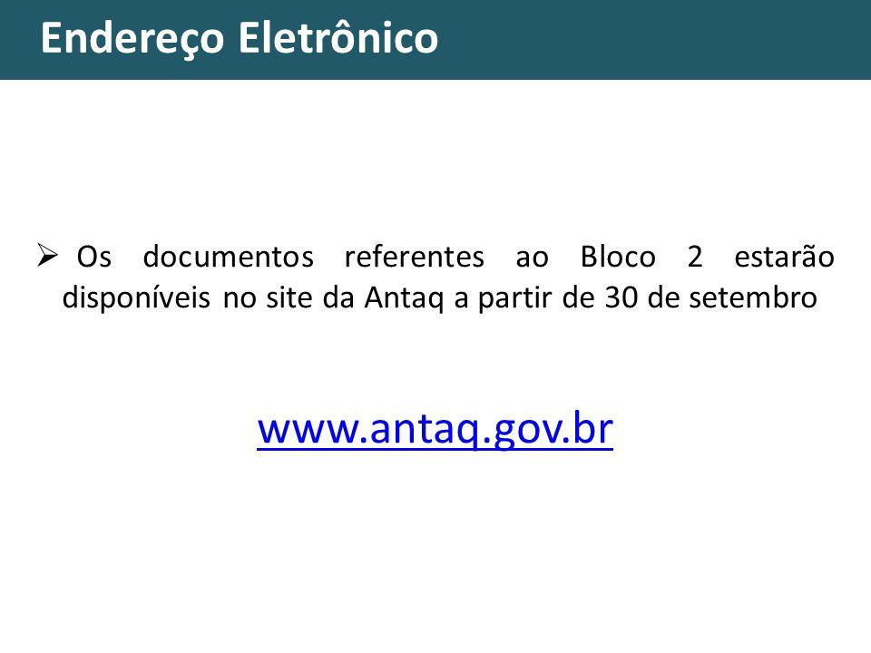 Endereço Eletrônico www.antaq.gov.br