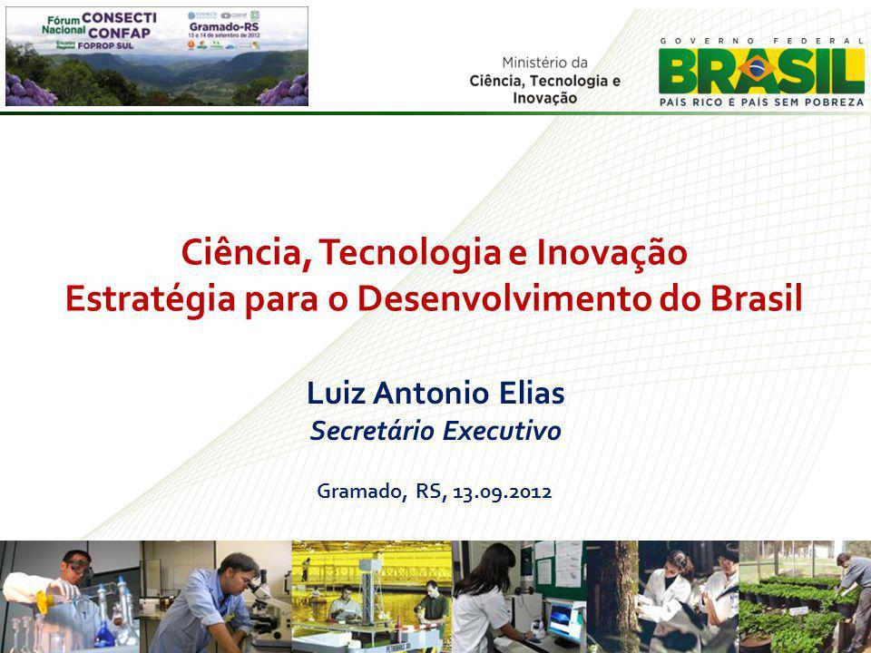 Ciência, Tecnologia e Inovação Estratégia para o Desenvolvimento do Brasil