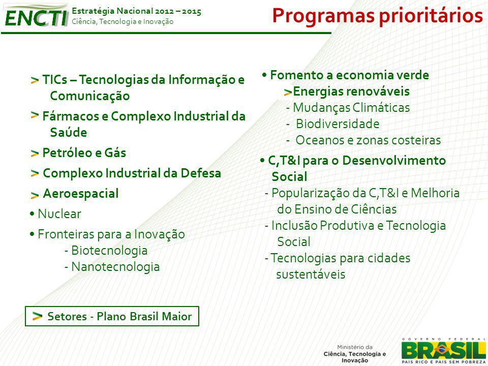 Programas prioritários