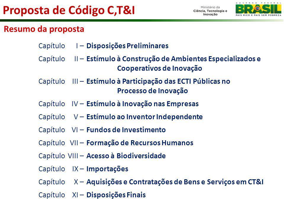 Proposta de Código C,T&I