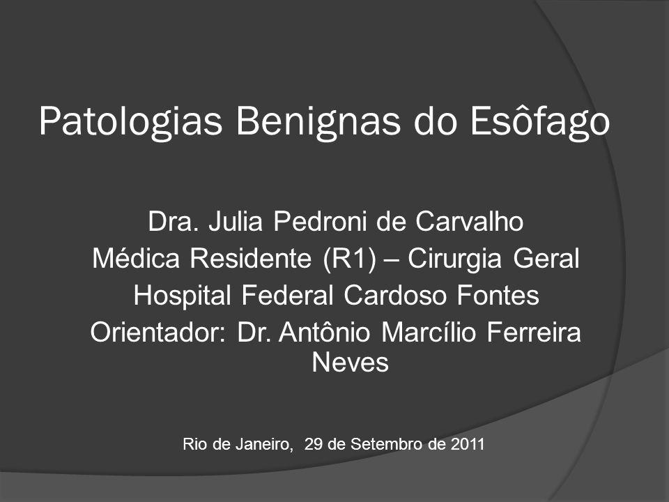 Patologias Benignas do Esôfago