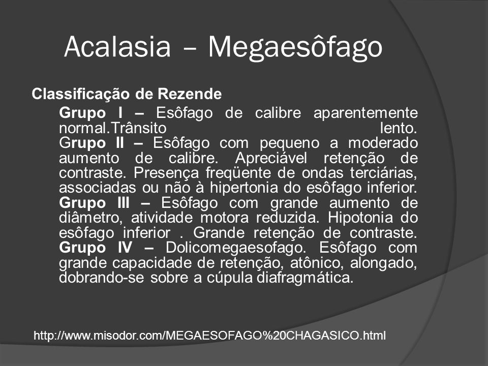 Acalasia – Megaesôfago