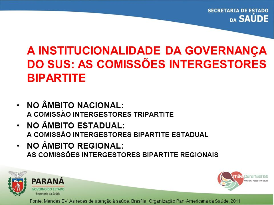 A INSTITUCIONALIDADE DA GOVERNANÇA DO SUS: AS COMISSÕES INTERGESTORES BIPARTITE