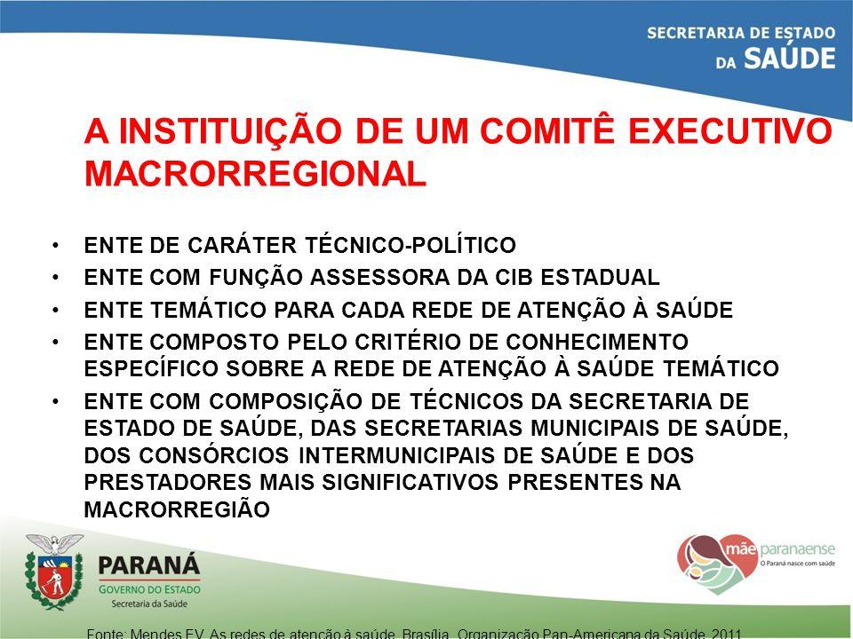 A INSTITUIÇÃO DE UM COMITÊ EXECUTIVO MACRORREGIONAL