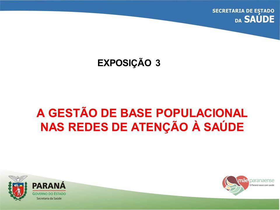 A GESTÃO DE BASE POPULACIONAL NAS REDES DE ATENÇÃO À SAÚDE