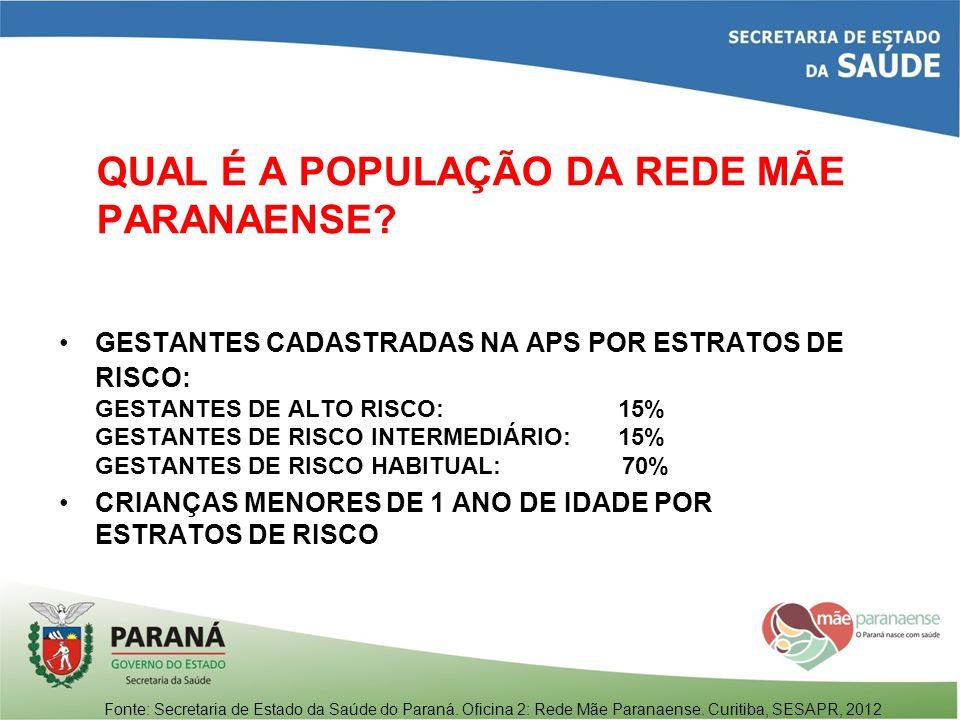 QUAL É A POPULAÇÃO DA REDE MÃE PARANAENSE