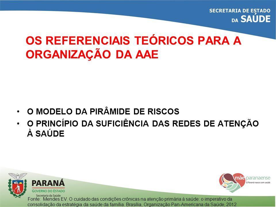 OS REFERENCIAIS TEÓRICOS PARA A ORGANIZAÇÃO DA AAE