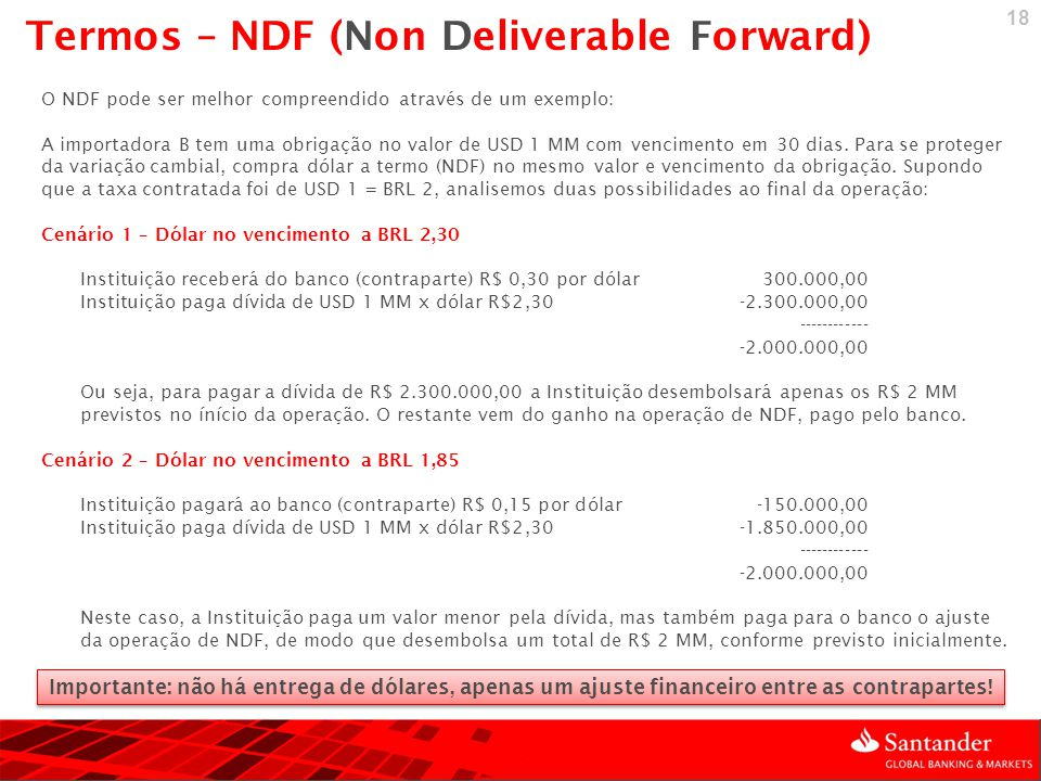 Termos – NDF (Non Deliverable Forward)