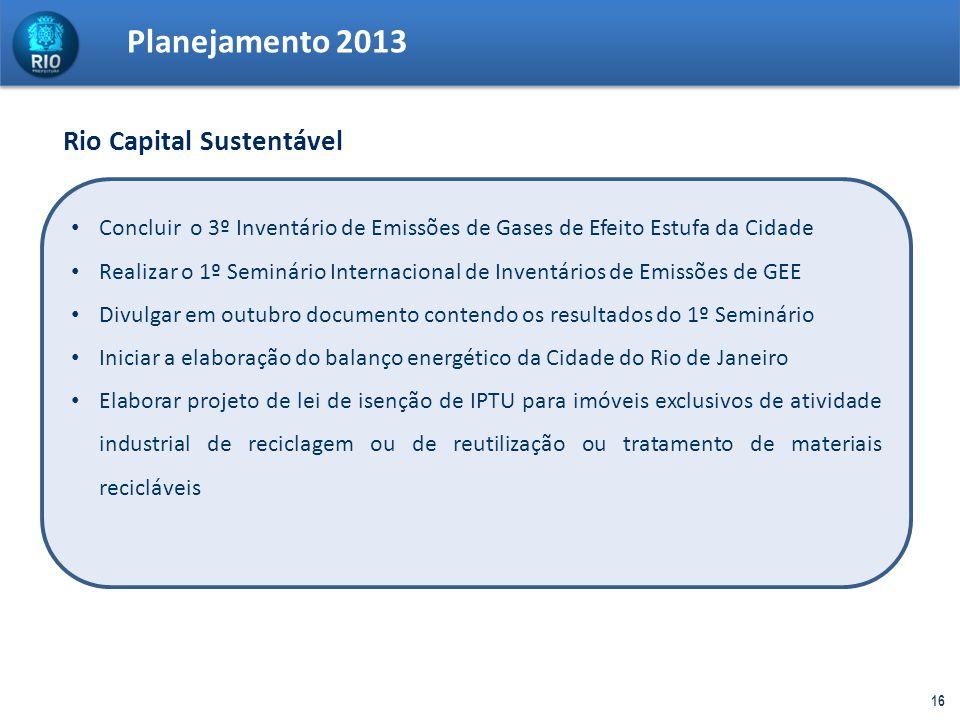 Planejamento 2013 Rio Capital Sustentável