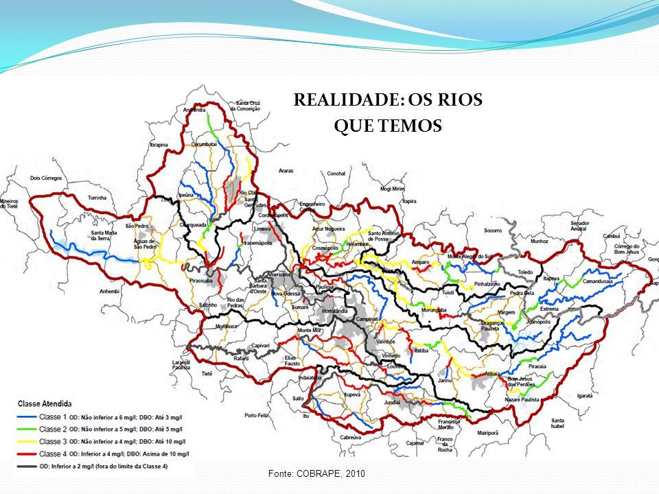 REALIDADE: OS RIOS QUE TEMOS