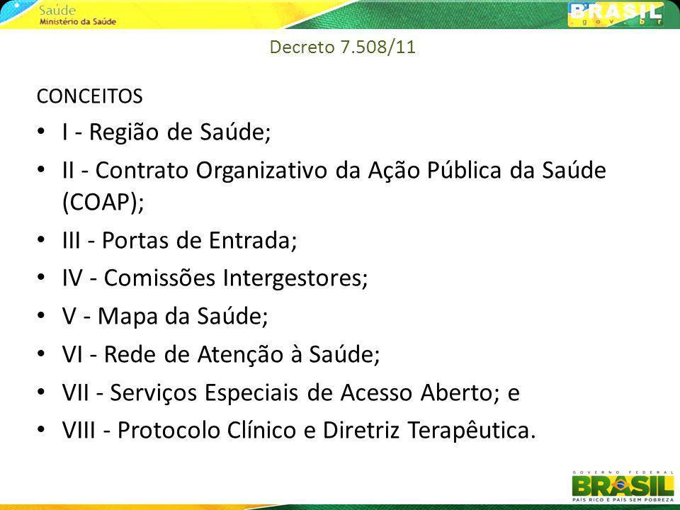 II - Contrato Organizativo da Ação Pública da Saúde (COAP);