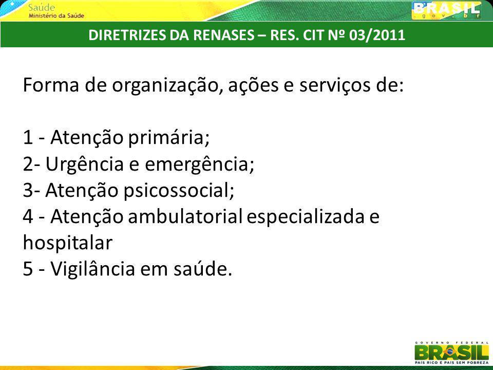 DIRETRIZES DA RENASES – RES. CIT Nº 03/2011