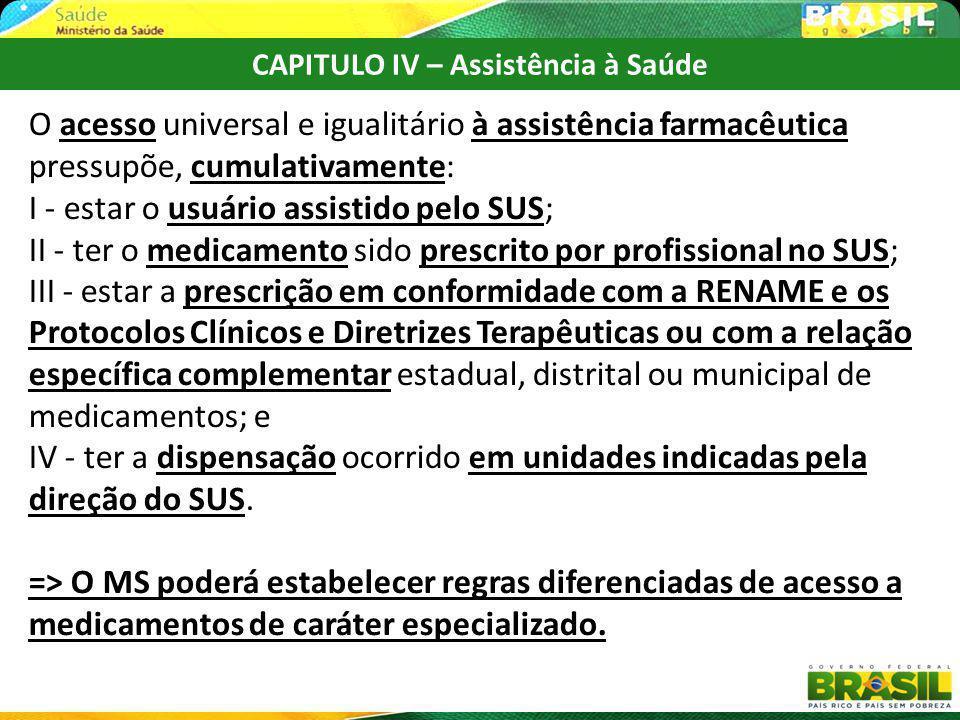 CAPITULO IV – Assistência à Saúde