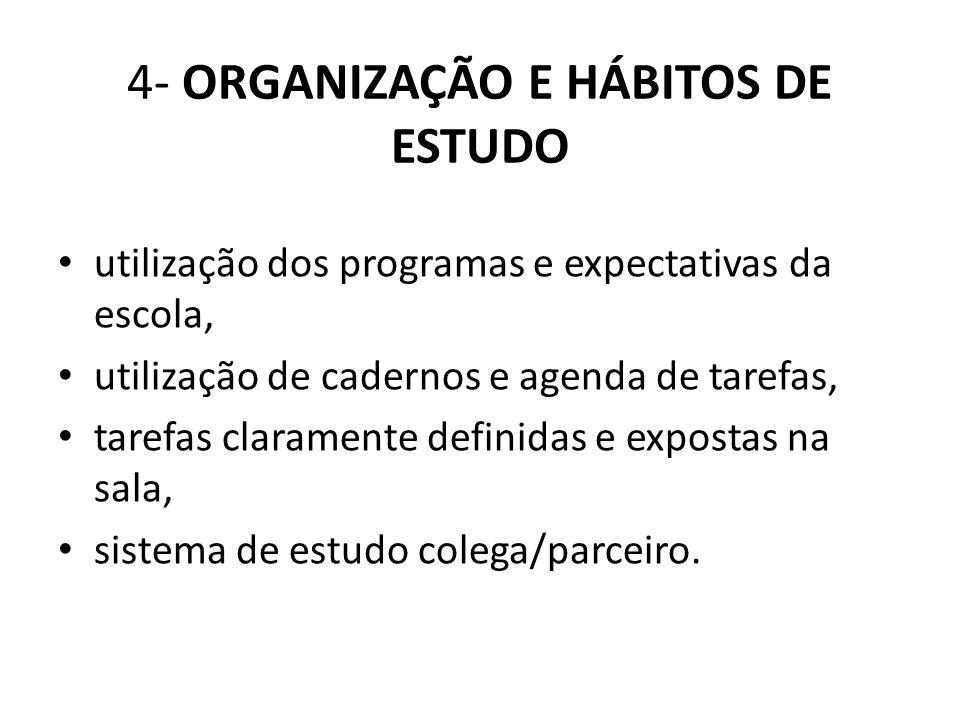 4- ORGANIZAÇÃO E HÁBITOS DE ESTUDO