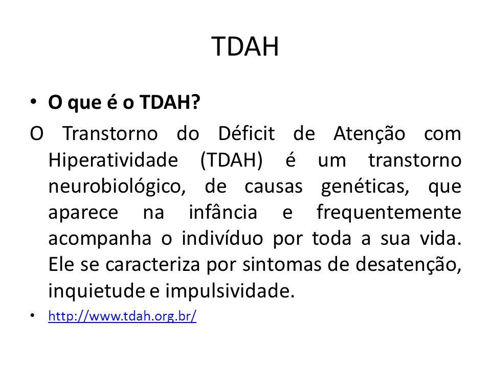 TDAH O que é o TDAH