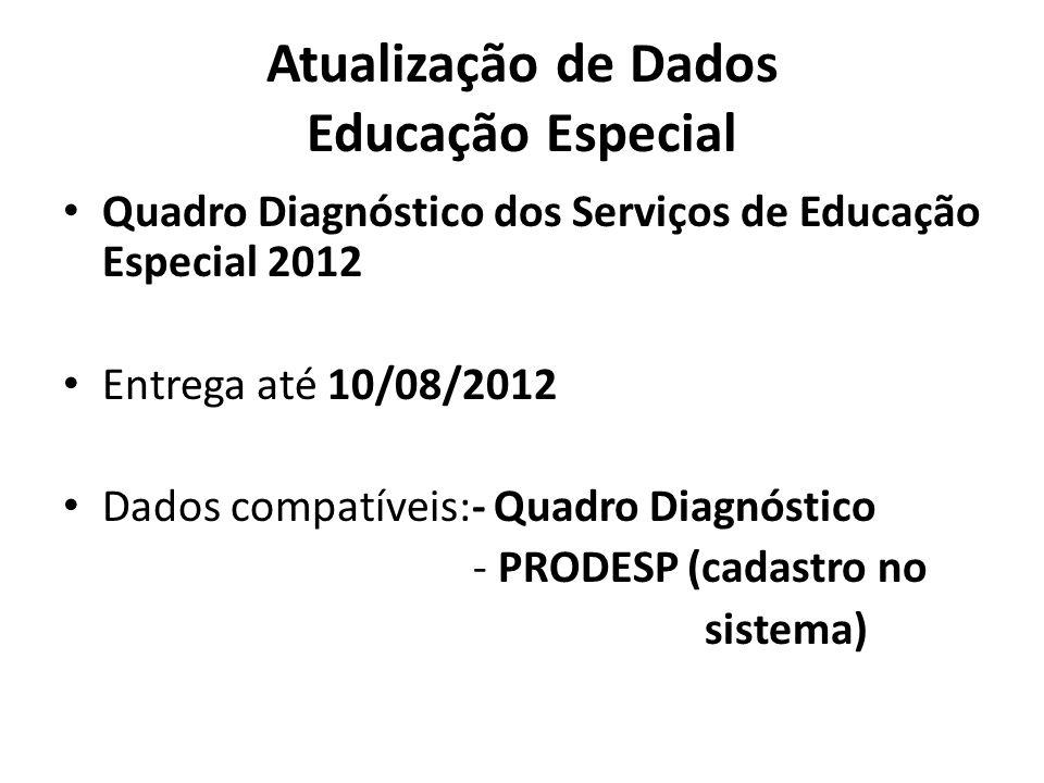 Atualização de Dados Educação Especial