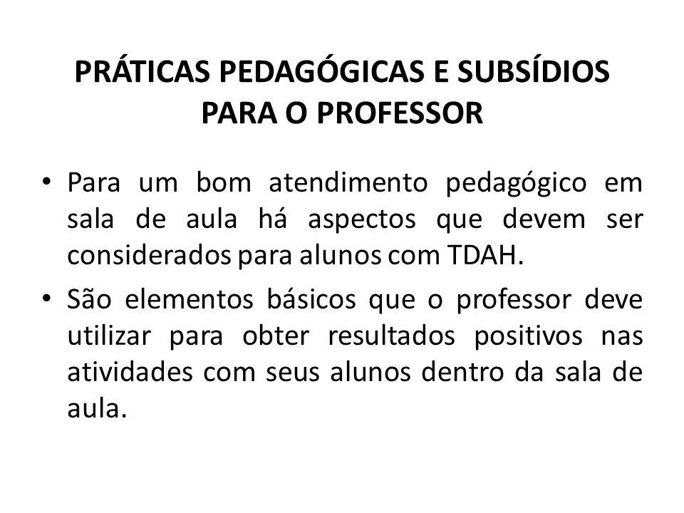 PRÁTICAS PEDAGÓGICAS E SUBSÍDIOS PARA O PROFESSOR
