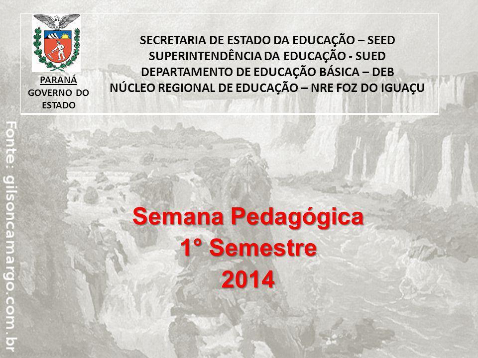 Semana Pedagógica 1° Semestre 2014