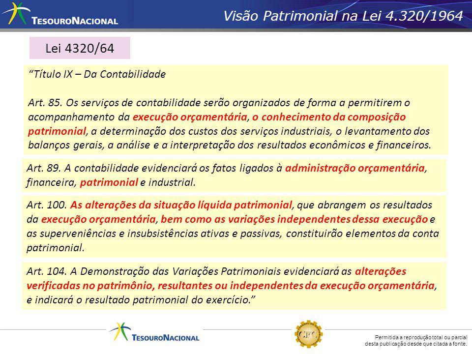 Lei 4320/64 Visão Patrimonial na Lei 4.320/1964