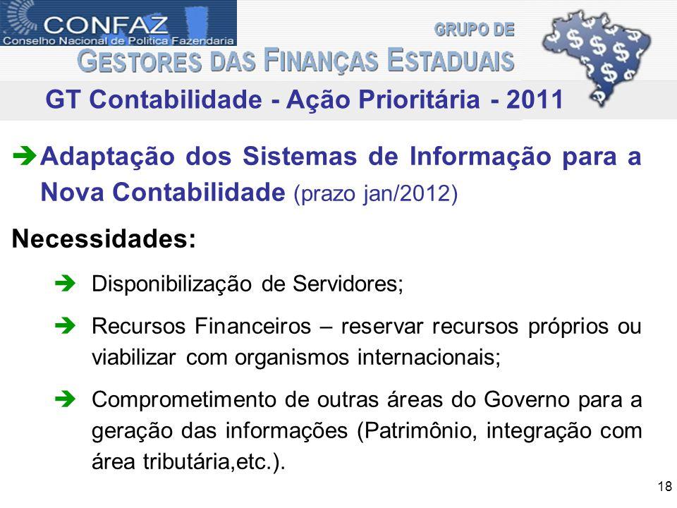 GT Contabilidade - Ação Prioritária - 2011