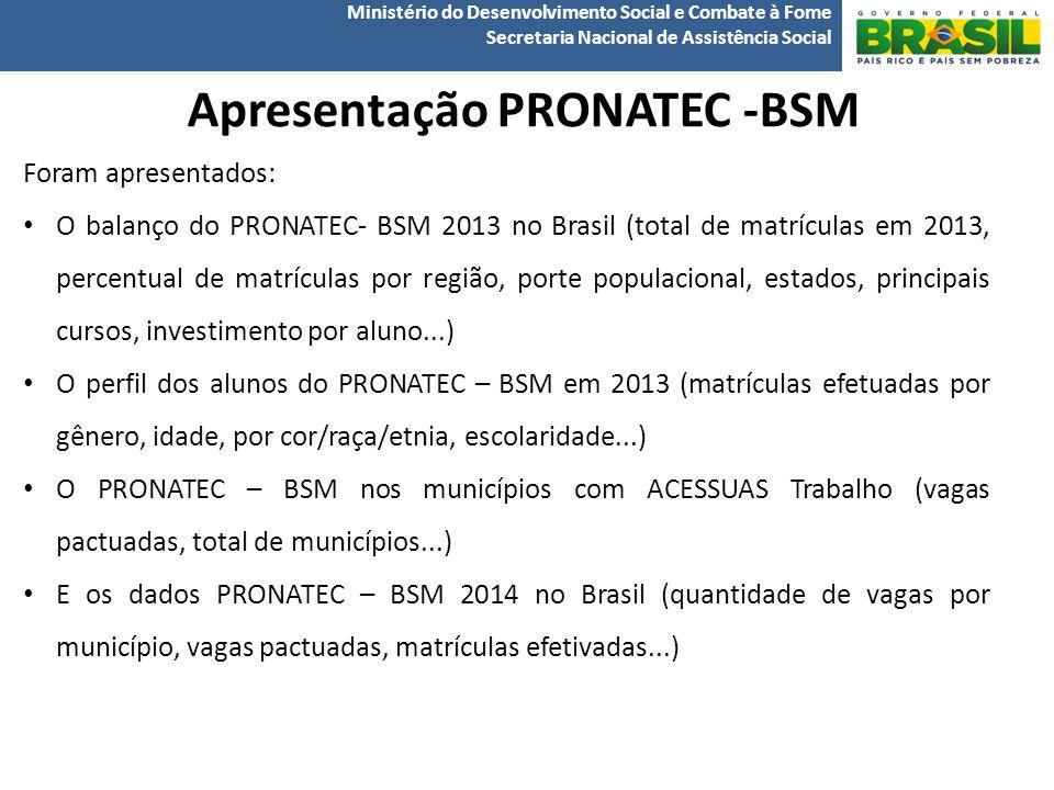Apresentação PRONATEC -BSM