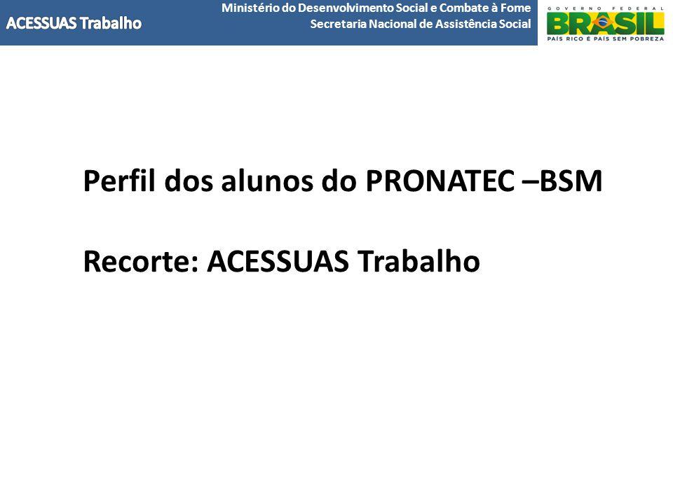 Perfil dos alunos do PRONATEC –BSM Recorte: ACESSUAS Trabalho