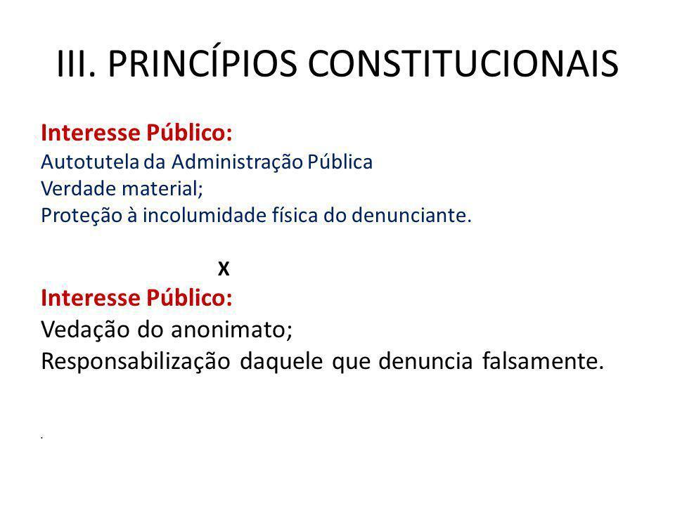 III. Princípios constitucionais