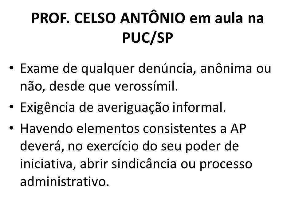 PROF. CELSO ANTÔNIO em aula na PUC/SP