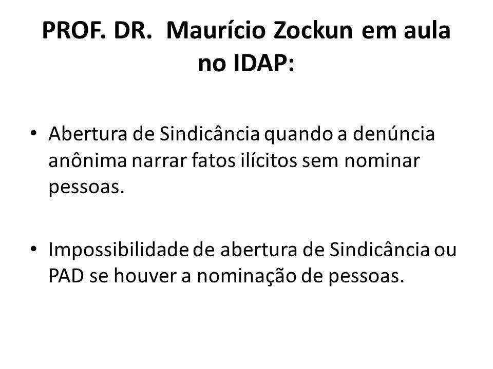 PROF. DR. Maurício Zockun em aula no IDAP: