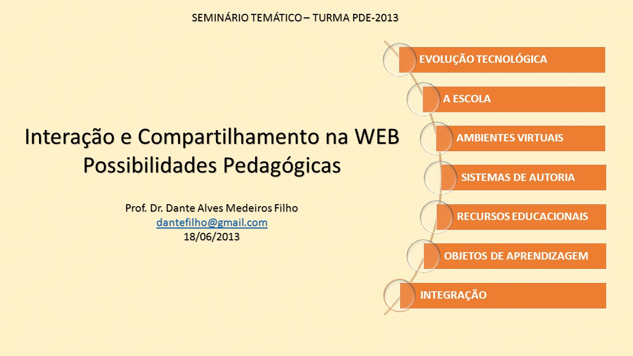 Interação e Compartilhamento na WEB Possibilidades Pedagógicas