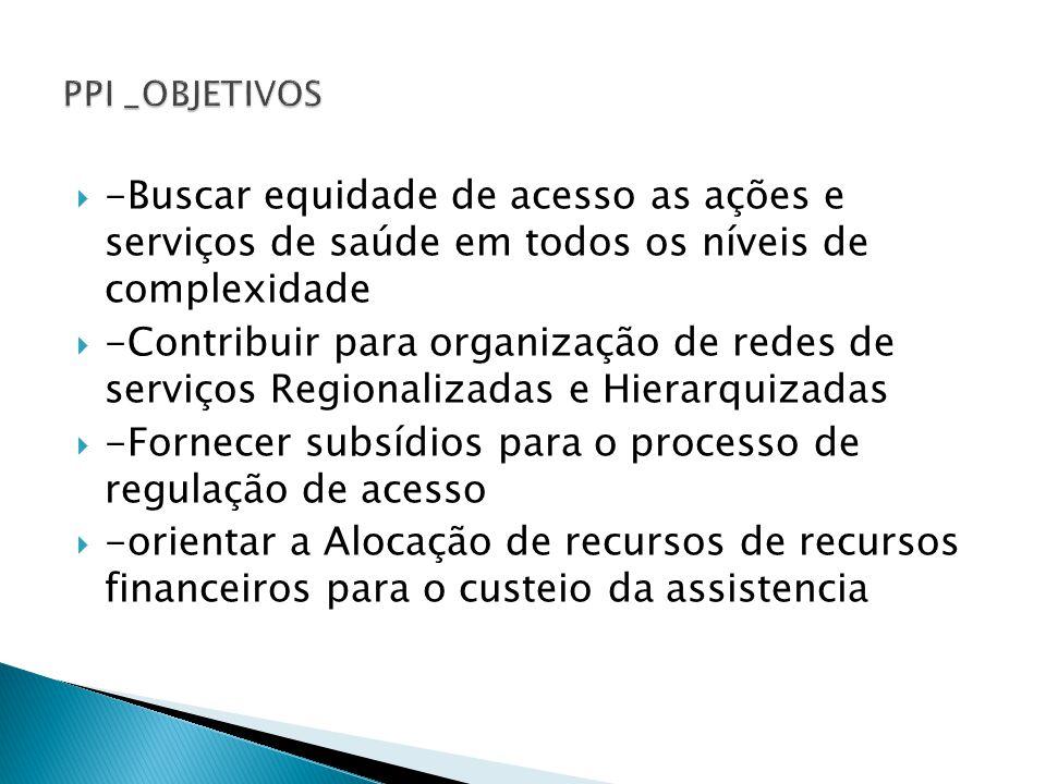 -Fornecer subsídios para o processo de regulação de acesso