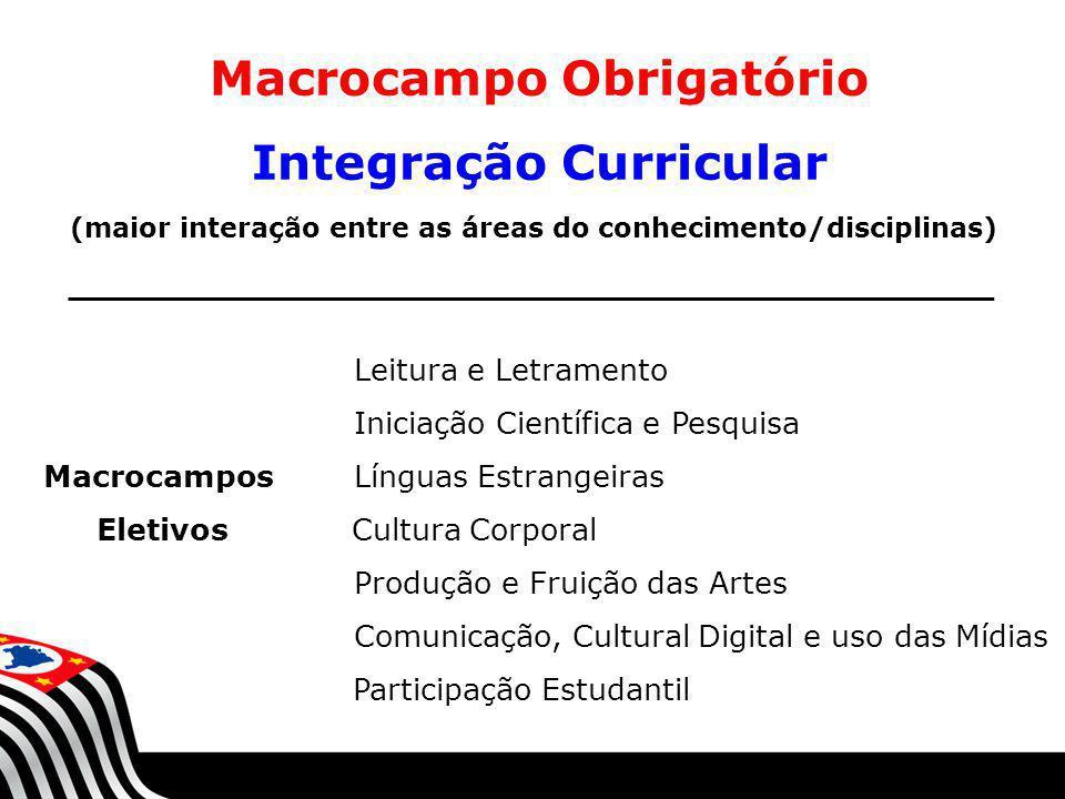 Macrocampo Obrigatório Integração Curricular
