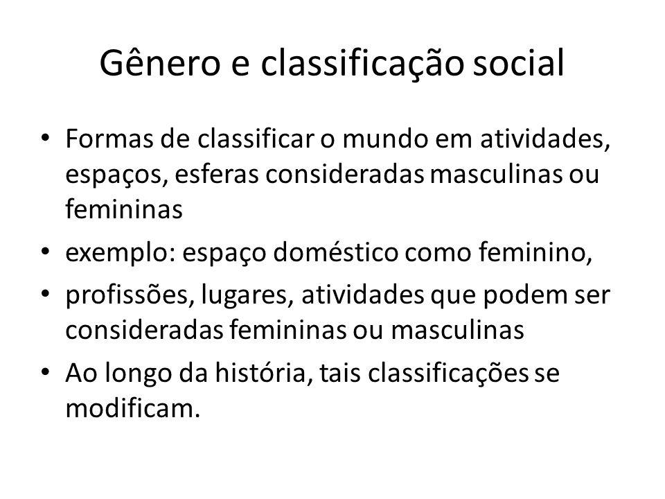 Gênero e classificação social