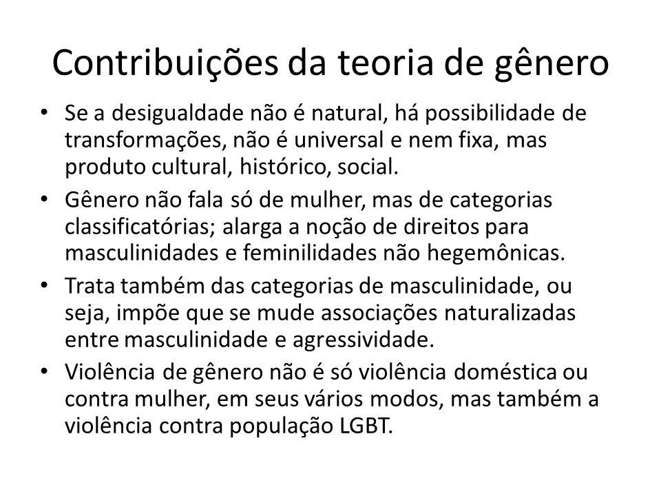 Contribuições da teoria de gênero