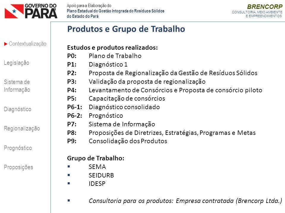 Produtos e Grupo de Trabalho