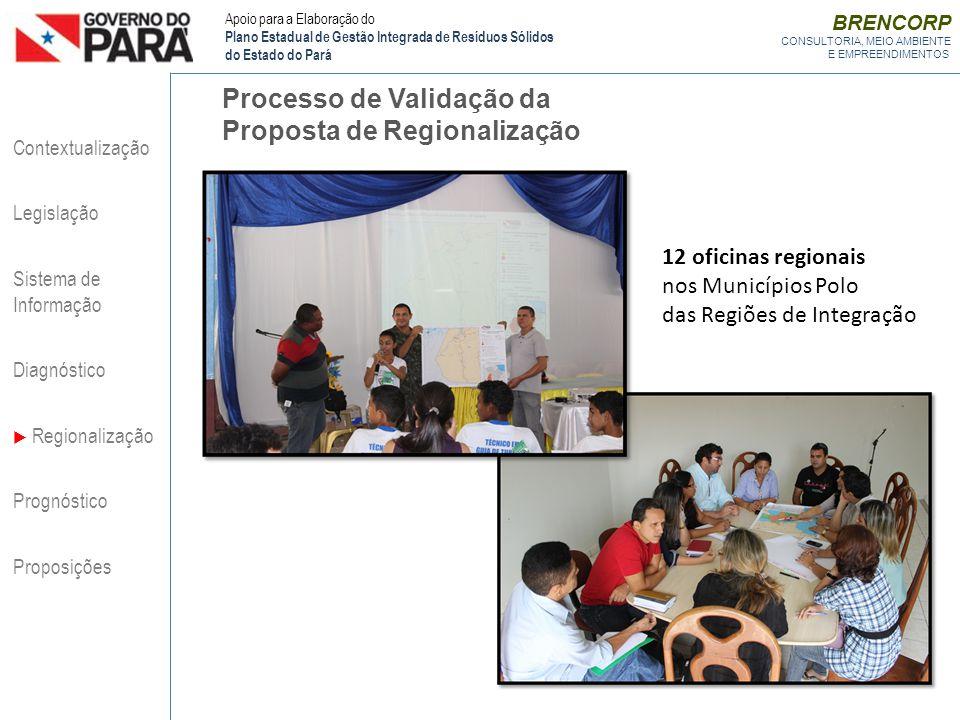 Processo de Validação da Proposta de Regionalização