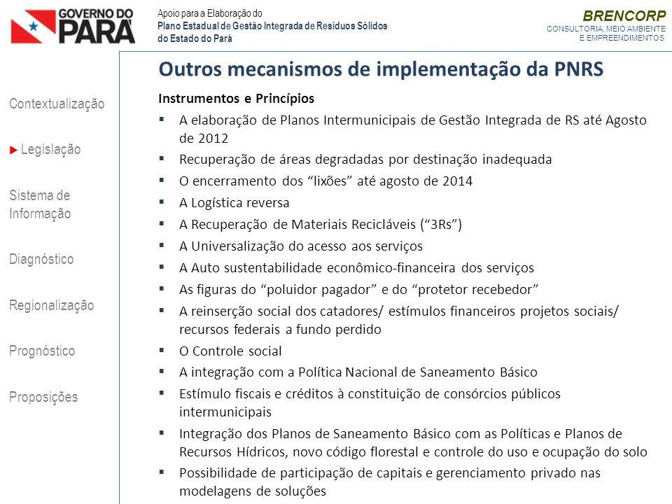Outros mecanismos de implementação da PNRS