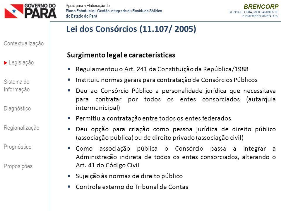 Lei dos Consórcios (11.107/ 2005) Surgimento legal e características