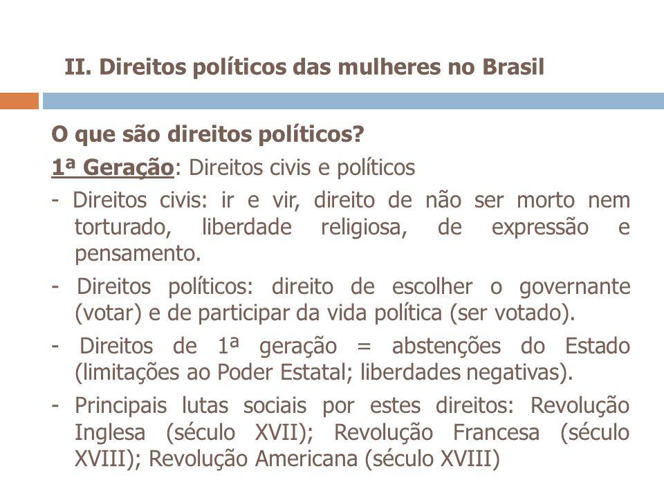 II. Direitos políticos das mulheres no Brasil