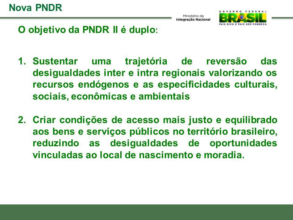 Nova PNDR O objetivo da PNDR II é duplo:
