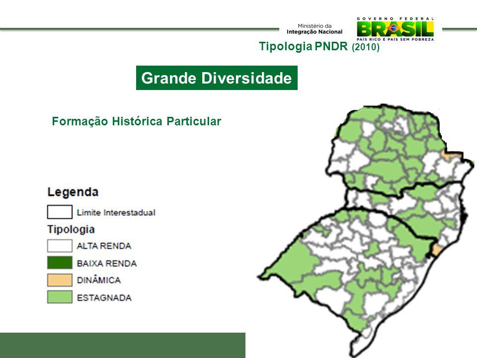 Grande Diversidade Rondônia Tipologia PNDR (2010)
