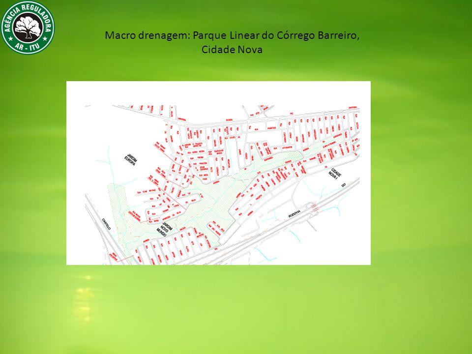 Macro drenagem: Parque Linear do Córrego Barreiro,