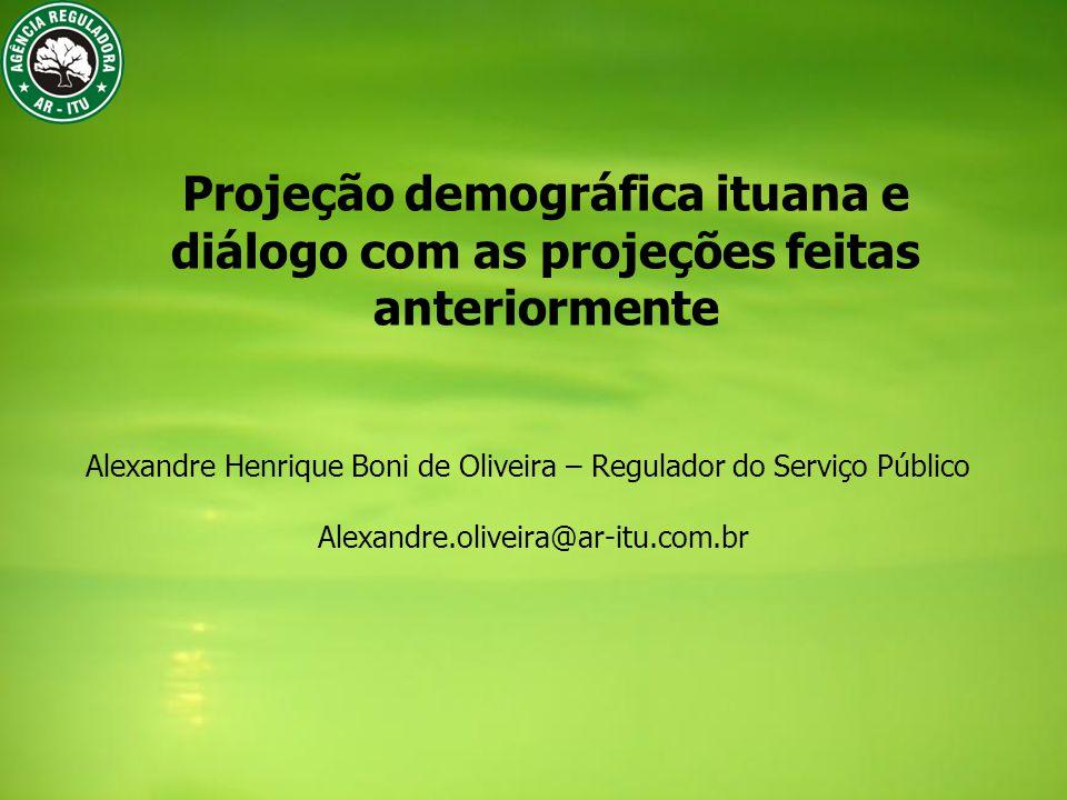 Projeção demográfica ituana e diálogo com as projeções feitas anteriormente