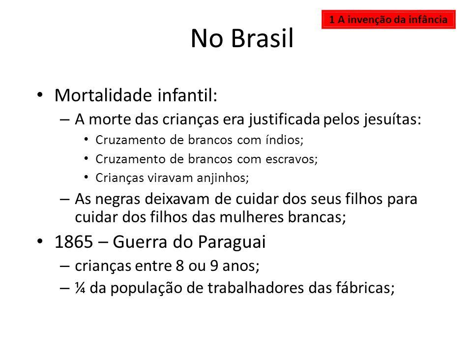 No Brasil Mortalidade infantil: 1865 – Guerra do Paraguai