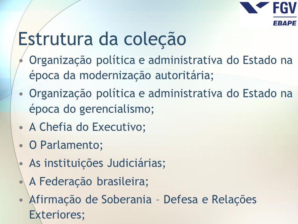 Estrutura da coleção Organização política e administrativa do Estado na época da modernização autoritária;