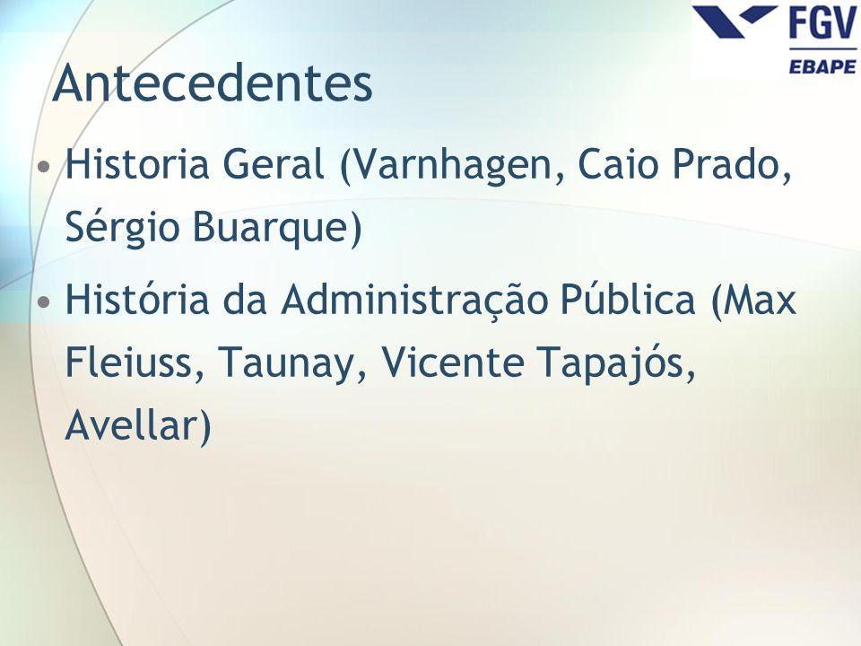 Antecedentes Historia Geral (Varnhagen, Caio Prado, Sérgio Buarque)